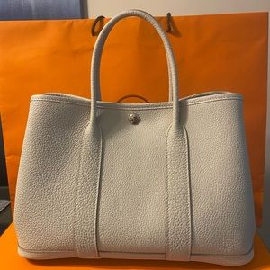 New Hermes Garden Party Size 30 Beton tote bag